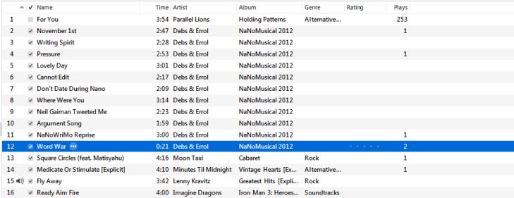 NaNo Playlist Thing