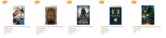 Amazon AUS epic fantasy kindle bestsellers