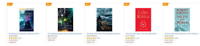 Canada Epic Fantasy ebooks